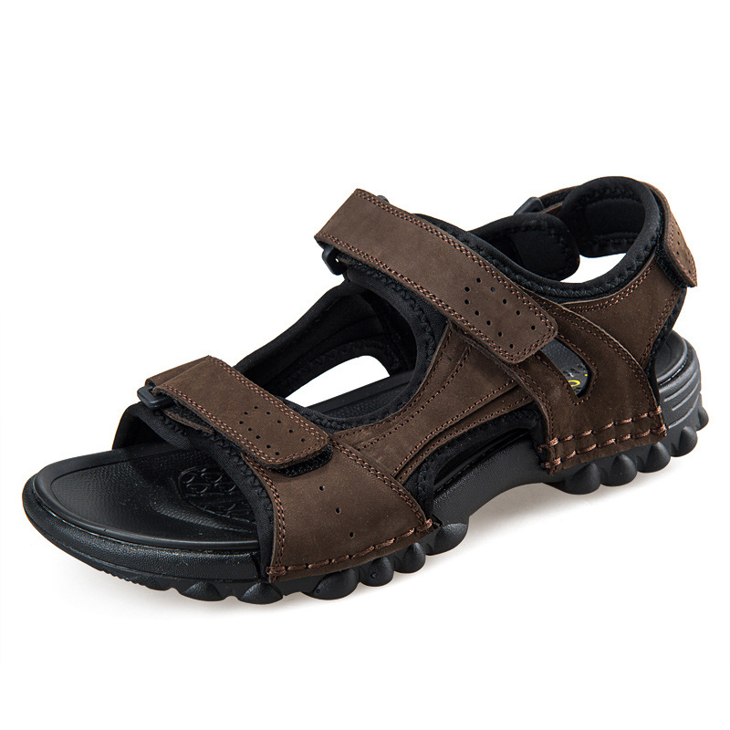New 2017 men sandals slippers genuine leather cowhide male summer shoes Flip Flop casual real leather Beach sandals Plus Size 45 men genuine leather casual thongs roman style t strap flip flop beach sandals summer gladiator sandals shoes