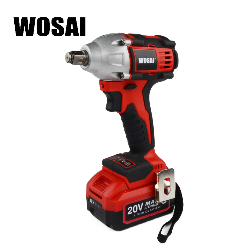 WOSAI 20V Lithium Battery Brushless Impact Electric Wrench Max Torque 320N m 4 0AH Cordless Socket