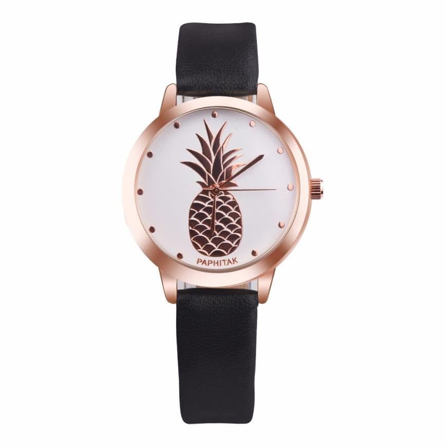 Relogio Feminino Womens Pineapple Faux Leather Women's Watch Analog Quartz Watch Montres La Sra reloj Horloge 18Jan24 dynamite baits xl pineapple