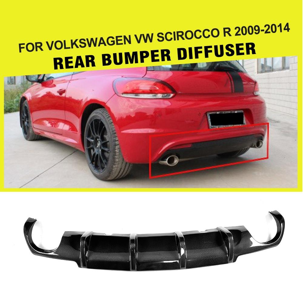 Carbon Fiber / FRP Car Rear Bumper Lip Diffuser for Volkswagen VW Scirocco R Bumper 2009 2014 Car Styling