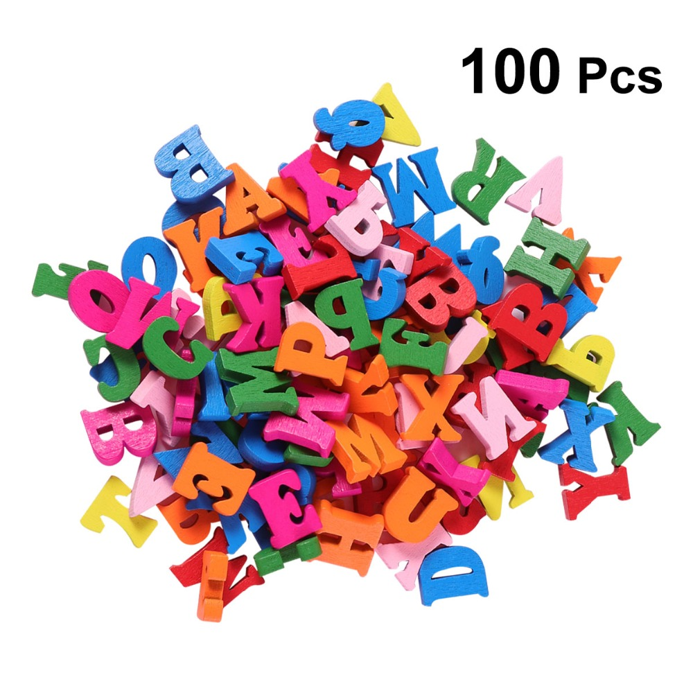 Apparel Sewing & Fabric Symbol Of The Brand 182pcs Is 7 Lot X 26pcs English Letters Home Decor Decoration Wood Wooden Letters Alphabet Wedding Party Birthday Diy Craft Garment Beads