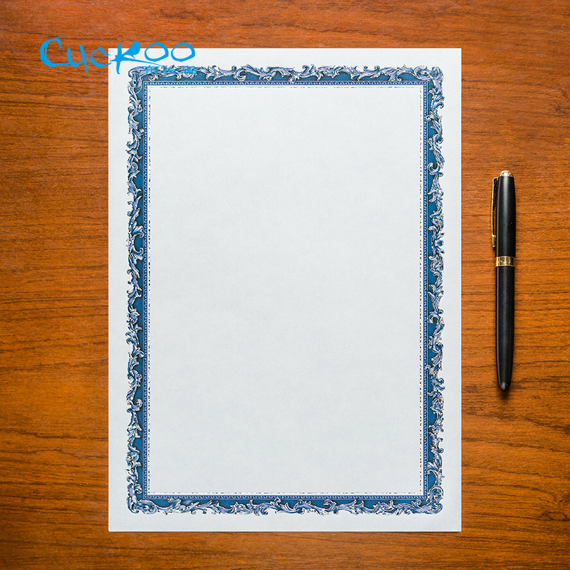 picture about A4 Printable Paper named US $9.38 Gold/silver retro stamping higher quality blank paper/card 15 sheets/bag a4 certification printable paper Do-it-yourself for small children/worker-inside Replica Paper