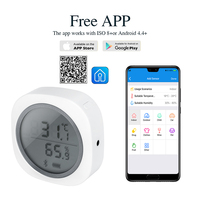 Digital Thermometer Hygrometer Electronic LCD Temperature Humidity Meter Weather Station Indoor Outdoor IBS TH1 Plus Wireless