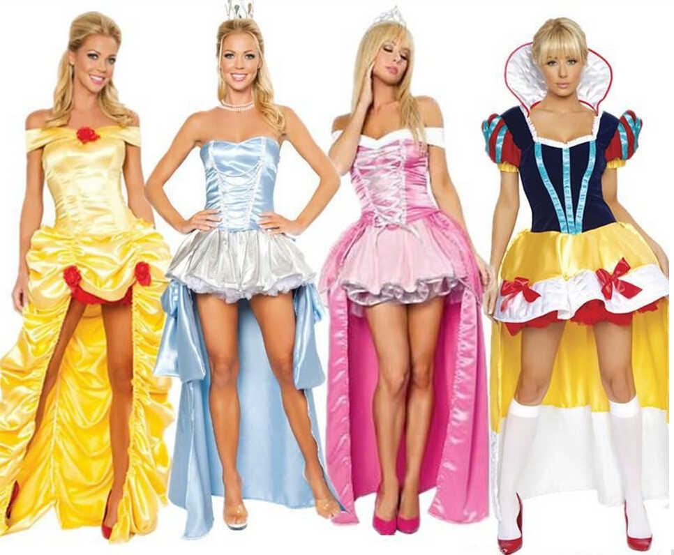 Gratis Verzending ZT8981 Prinses Belle Kostuums Prinses Deluxe Dames Fairytale Adult Fancy Dress Nieuwe Kostuum