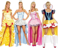 FREE SHIPPING ZT8981 Princess Belle costumes Princess Deluxe Ladies Fairytale Adult Fancy Dress New Costume