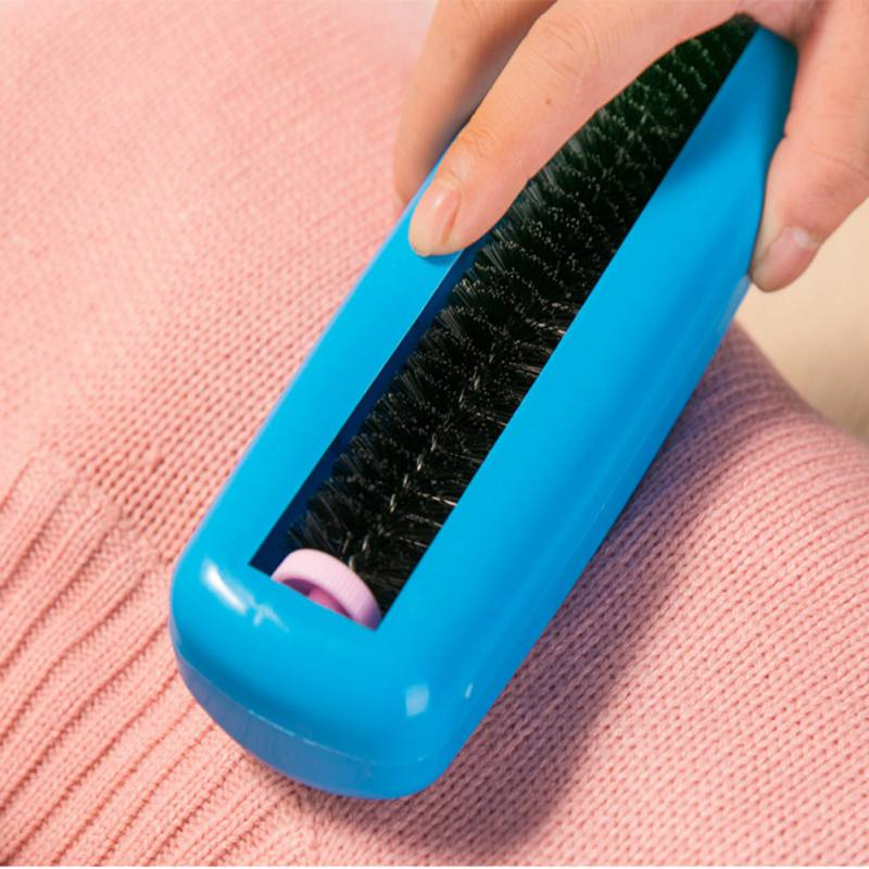 Pet Hair Fluff Cleaner Mini Manual Vacuum Cleaner Carpet Dust Brush Roller Clothes Cleaning Brushes Table Crumb Sweeper Lint image