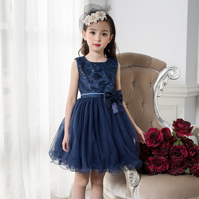 2018 New Kids Girls Flower Dress Baby Girl Birthday Party Dresses Children Fancy Princess Ball Gown Wedding Clothes CC777 2017 new flower lace girls dress princess dresses solid wedding dress girl clothing sleeveless ball gown girl costume kids ds003