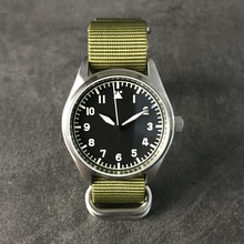 San Martin Fashion Women Men Pilot Watch Stainlss Steel Watch 200m Water Resistant  Automatic Movement Wristwatch Sapphire 39mm