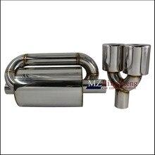 Acessórios do carro S styling saída Sistema de Escape Silenciador Tubo de Escape Silenciador Em Aço Inoxidável Um dos dois 89mm cauda garganta