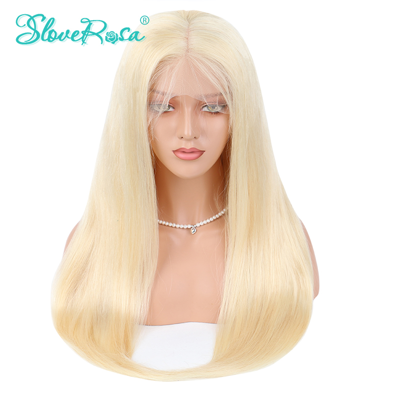 Full Lace Human Hair Wigs Blonde 613 Color Malaysia Wig