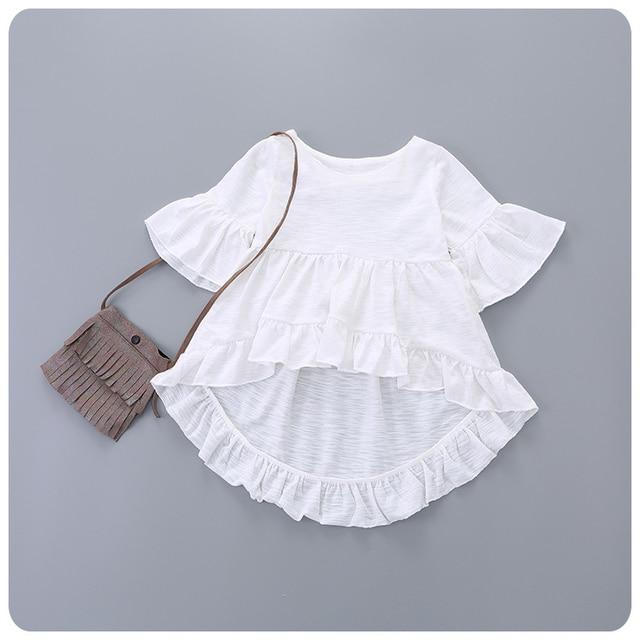 2016 Spring  Summer. New Children's Girl Baby Lotus Leaf Edge Irregular Skirt T Girl Base Bottoming Unlined Upper Garment Jacket