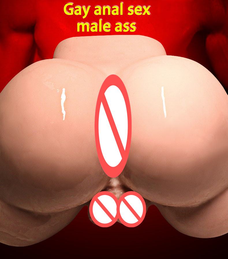 2 5kg Male Silicone Big Ass 3d Real Anal Testis Sex Doll Gay