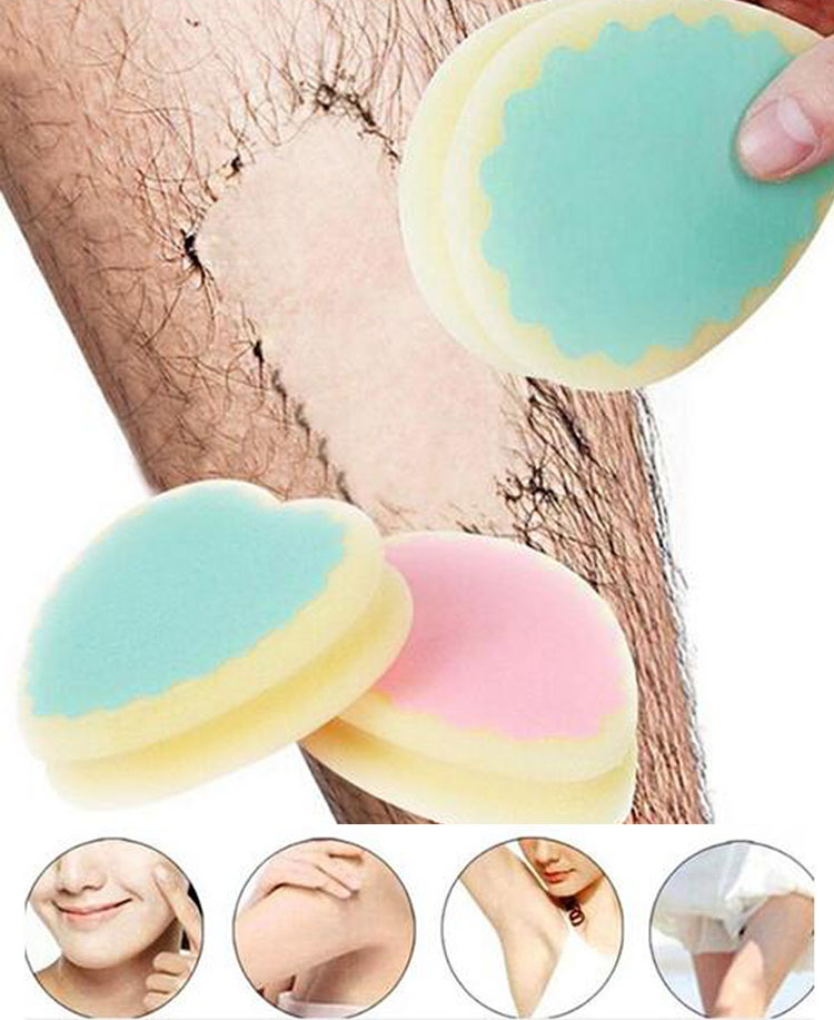 Magic Painless 3 Shapes Women Hair Removal Sponge Soft Cute Depilation Tools Skin Care Sponges Beauty Ladies Lovely