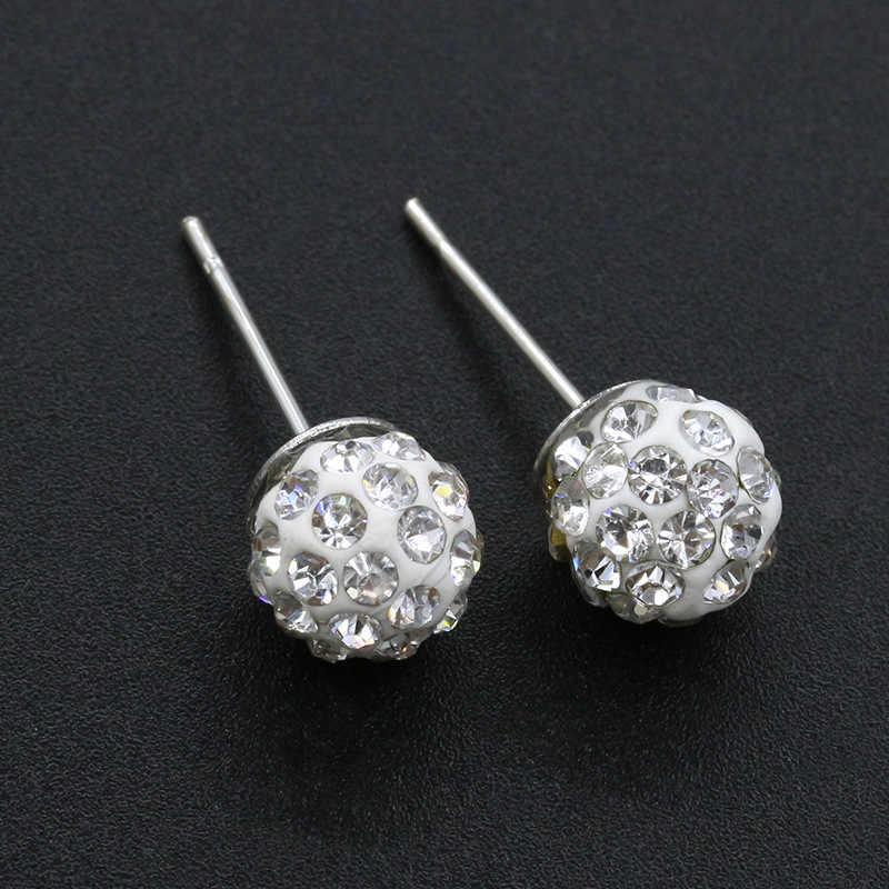 EK2023 חדש הגעה אופנה הניצוץ קריסטל כדור חרוזים Stud עגילים לנשים תכשיטי מתנות Brincos Boucles d'oreilles