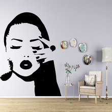 NEW sexy woman Wall Sticker Pvc Removable For Living Room Bedroom Art Decals