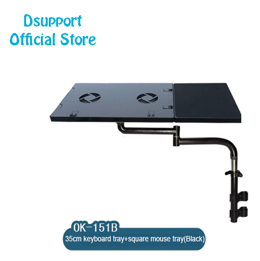 OK151 Multifunctional Bow Chair Clamping Laptop Stand Keyboard Pad Support Notebook Holder Lapdesk