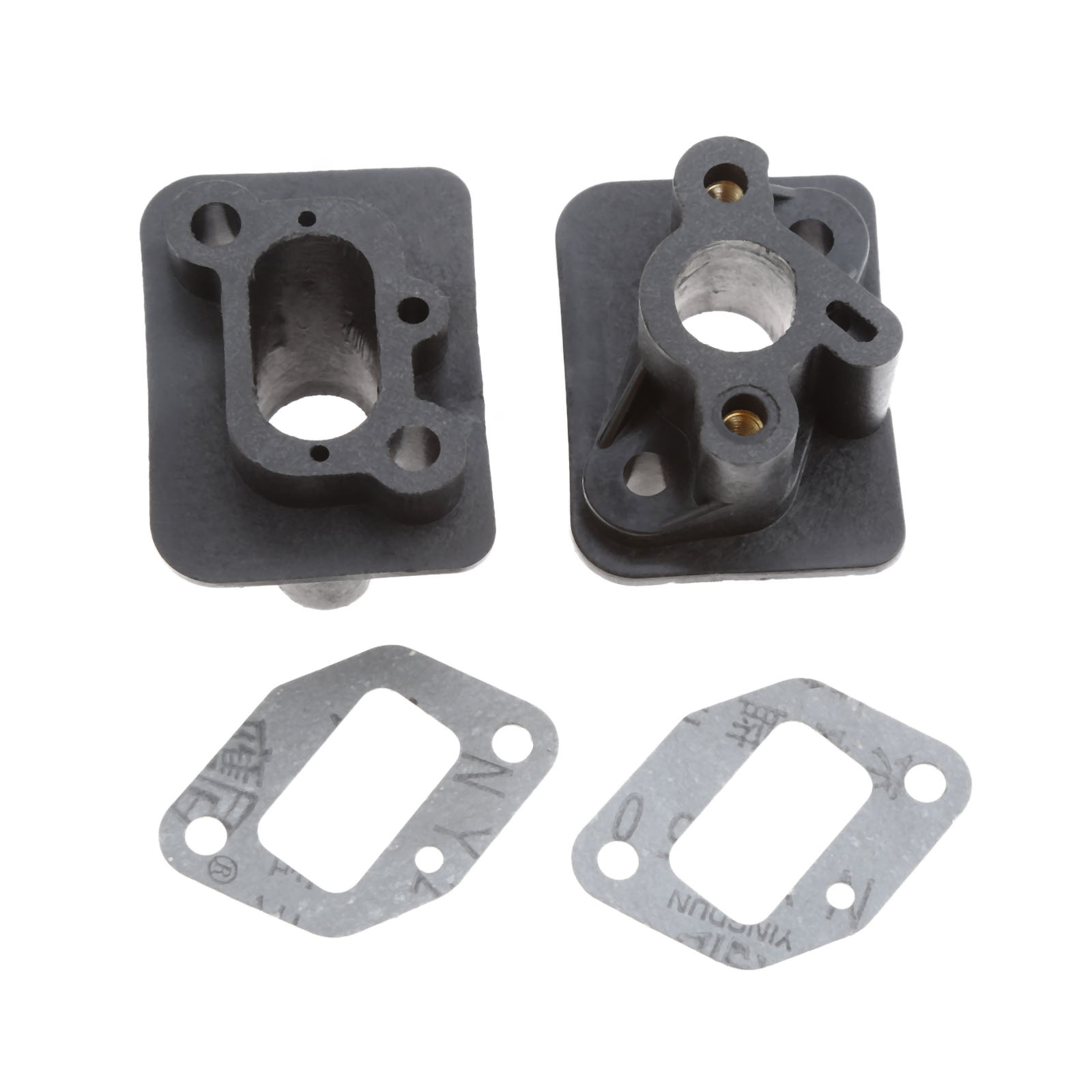 DRELD 2Sets Manifold With Gasket For 1E40F-5 44F-5 BC430 CG430 CG520 43CC 52CC Brush Cutter Grass Trimmer Spare Part Garden Tool