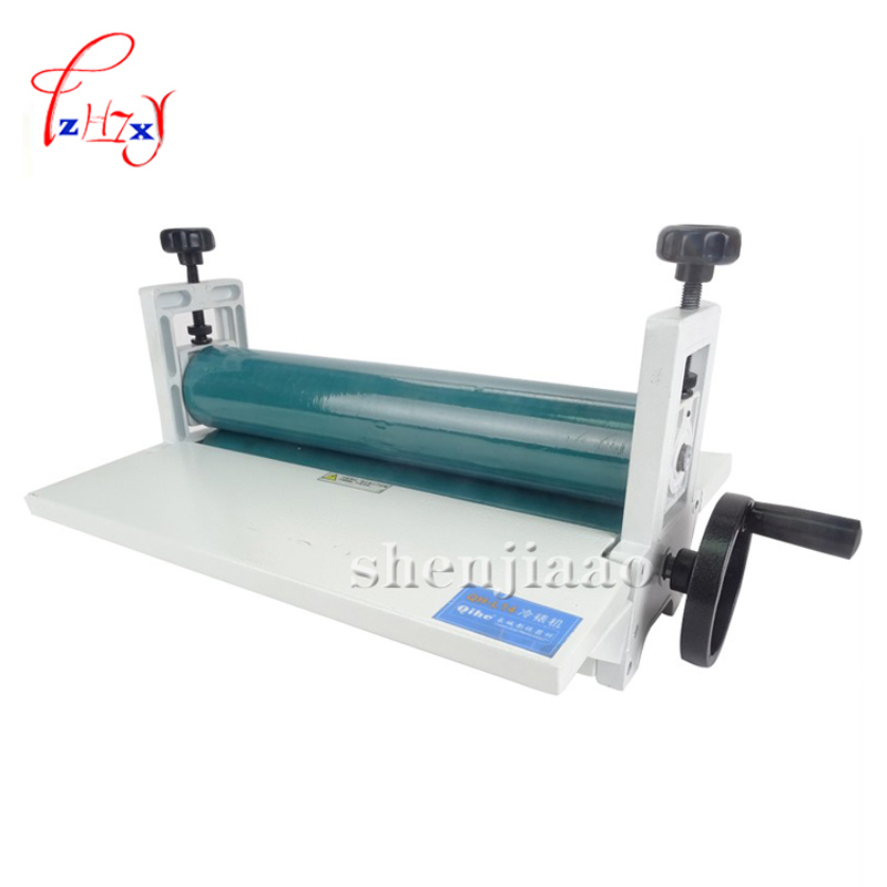 NEW 14 350mm Manual tools roll laminating machines Photo Vinyl Protect Rubber Cold Laminator 1pc 6inch 150mm manual cold roll laminating machine photo vinyl protect rubber cold mounting laminator