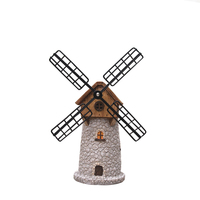 Europe Vintage Windmill Model Ornament Resin Piggy Bank Music Box Dutch Windmill Home Decor Accessories Gift Furnishing Articles
