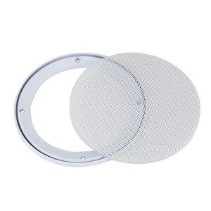 Image 2 - GHXAMP 2 قطعة 4 بوصة 5 بوصة 8 بوصة سيارة سقف شبكة سماعات شبكة الضميمة صافي 6.5 بوصة الغطاء الواقي مضخم الصوت لتقوم بها بنفسك ABS الأبيض