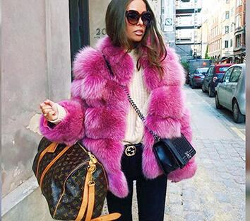 2017 veste d'hiver de mode de femmes en fausse fourrure manteaux office lady slim vogue brève conception vestes haute qualité outwears wx189