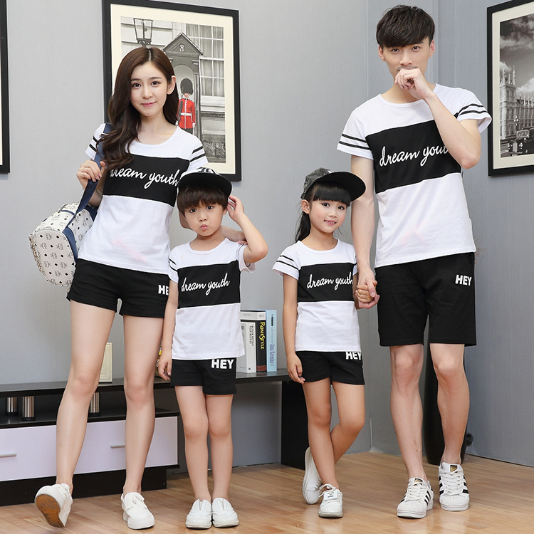 sport family matching outfit mom and daughter clothes set