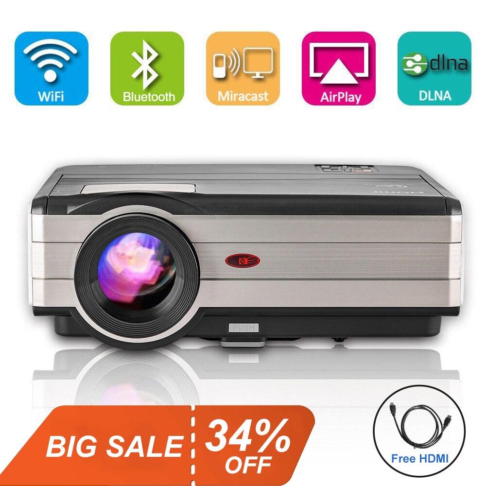 Lcd-projektoren Realistisch Smart Led Home Cinema Projektor Android Wifi Beamer Bluetooth Volle Hd Projeksiyon Video Für Smartphone Tv Pc Iphone 4000 Lumen