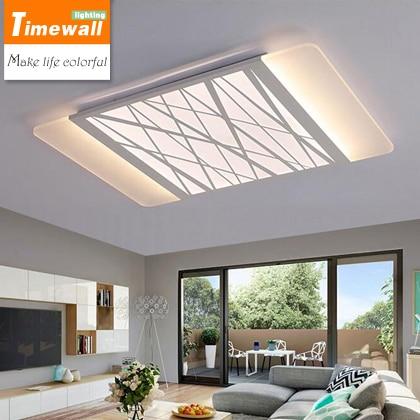 US $188.83 |LED wohnzimmer lampe rechteckige decke decke lampen modernen  minimalistischen ultradünne lampe dimmen beleuchtung großhandel in LED ...