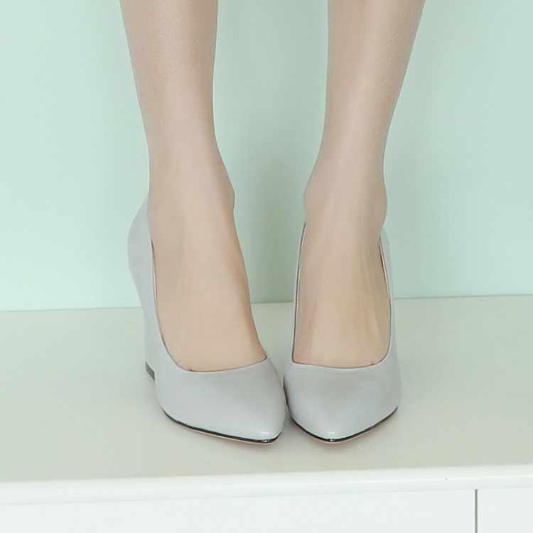 Grote Maat 11 12 13 14 15 16 dames hoge hakken vrouwen schoenen vrouw pompen Schoenen met spitse vierkante hakken en ondiepe slippers