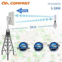 Comfast 300Mbps 2,4G Wifi inalámbrico al aire libre de largo alcance cpe 11dbi antena wi-fi repetidor Router Punto de Acceso puente AP CF-E110NV2