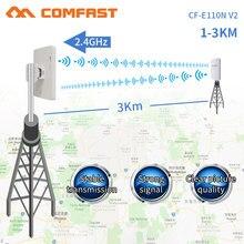Comrápido antena 300mbps 2.4g sem fio, wi fi externo longo alcance cpe 11dbi repetidor ponte acesso ap CF-E110NV2,
