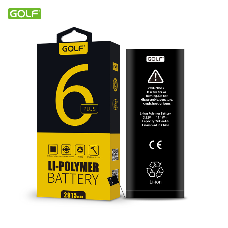 ( For iPhone 6 Plus) GOLF 2915mAh High Quality Built-In Phone Battery with Machine Tools Kit