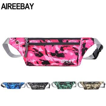 AIREEBAY Men Waist Bum Bag Women Fanny Pack Belt Money For Running Jogging Cycling Phones Sport Running Waterproof Waist Bag