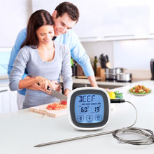 Touch Screen Electronic Thermometer Food Meat Timer Kitchen Cooking Liquid Thermometer With Probe Barbecue Thermometer Alarm compact size thermocouple thermometer low cost thermometer dual inputs thermometer center 308