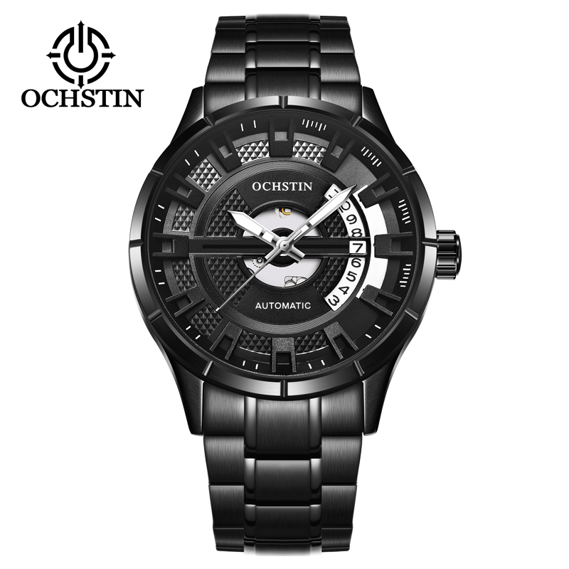 2018 New Auto Date Men's WristWatch OCHSTIN Stainless steel Casual Automatic Mechanical Watches Male reloj hombre jaragar 6 hand day date stainless steel band automatic mechanical male wristwatch mens clock reloj hombre