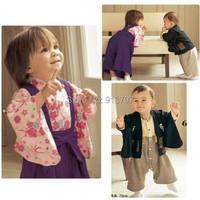 Retail 2015 New Baby Romper Cotton Kimono Romper+Outerwear 6-24M 16084