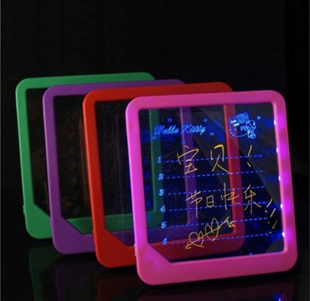 Free Shipping LED Message Board /Led Writing Board/ Led Display Fluorescence Plate With A Highlighter Free To Write No Battery
