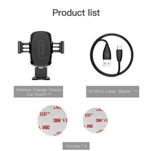 Image 5 - BASEUS 10W Qi Wireless Car Charger สำหรับ iPhone X 8 8Plus แรงโน้มถ่วงรถผู้ถือโทรศัพท์ FAST Charger สำหรับ Samsung S9 S8