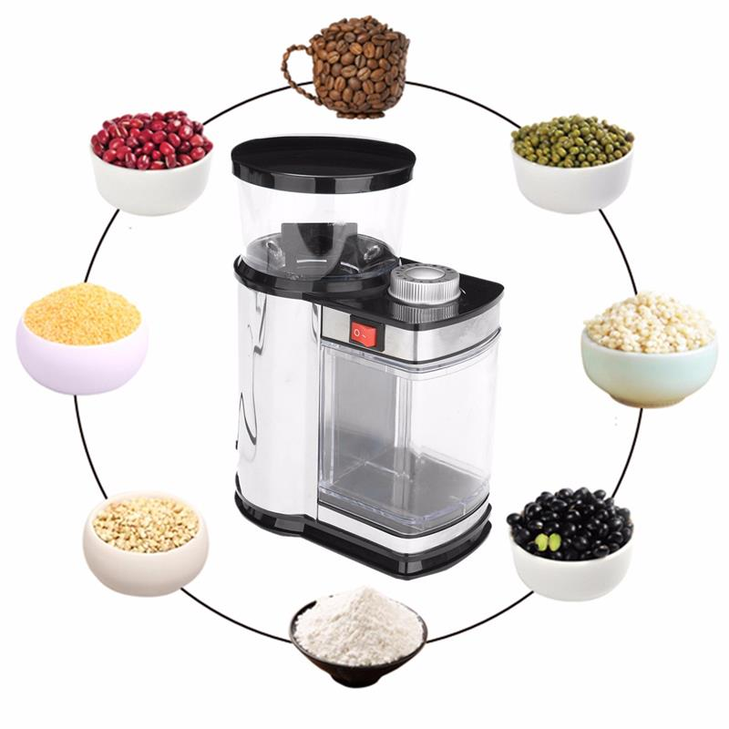 Electric Coffee Bean Grinding Machine Stainless Steel Multi-purpose Household Specialty Coffee Grinder 220V cukyi household electric multi function cooker 220v stainless steel colorful stew cook steam machine 5 in 1