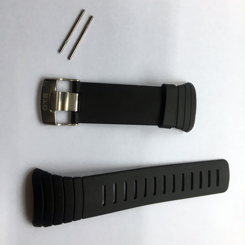 OTS 7005 Waterproof TPU Silicone Rubber Core Watch Spare Strap 210MM Length Band 24MM Width Repair Adjustable Replacement (6)