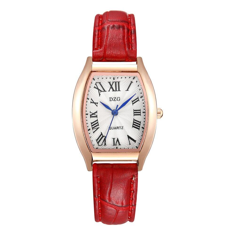 Reloj Mujer Women Bracelet Wrist Watch Women Watches Fashion      Square Roman Dial Luxury Leather Ladies Quartz Watch Clock #B