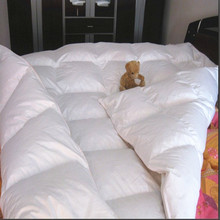 Duvet filled White Goose feather & down 25 oz tog value 4.5 for summer 150 gsm USA queen size 218*218cm wholesale