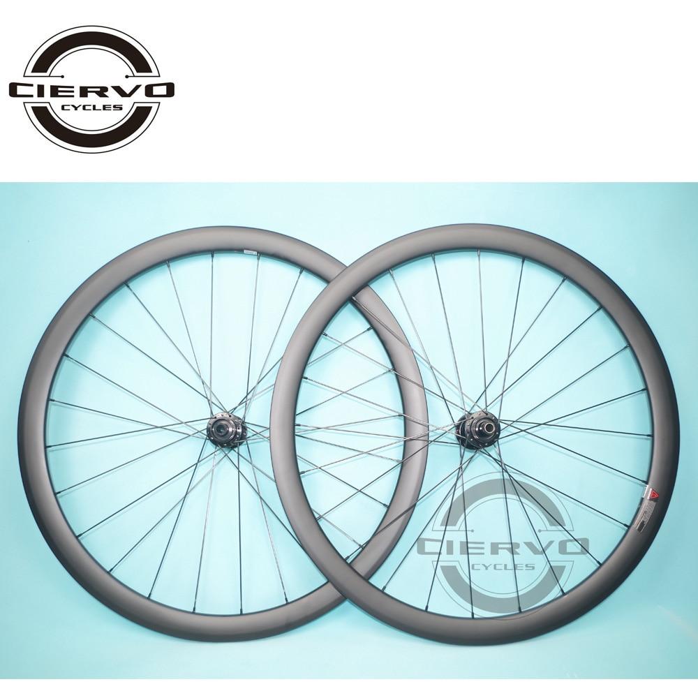 45mm x 25mm Clincher Tubeless Road Disc Wheels Straight Pull U ...