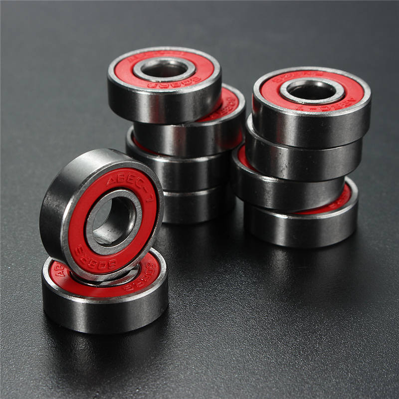 Professional 10 PCS  ABEC 7 608RS Skate Scooter Skateboard Wheels Spare Bearings Ball Roller Highest Precision Shafts koston longboard skateboard scooter black skate helmet