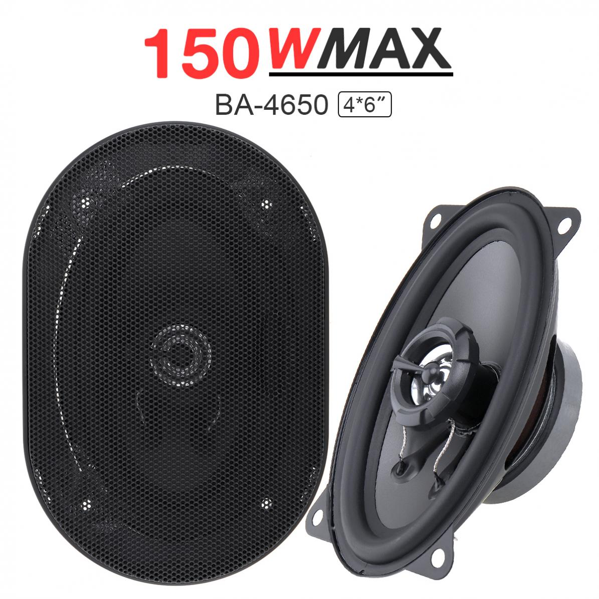 2 stücke 4X6 Inch 2 Weg 150 watt Auto Lautsprecher Automobil Auto HiFi Audio Full Palette Frequenz Koaxial lautsprecher Auto Hohe Pitch Lautsprecher