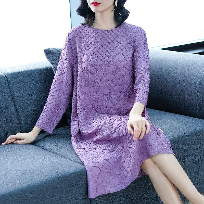Nouvelle Printemps Des De pink Femmes wine Broderie Haut blue navy Taille Rétro Lâche purple Black Gamme Grande Robe Mode PxHvdwn