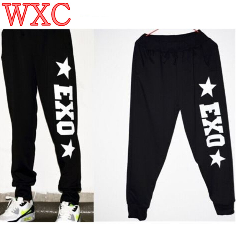 KPOP Arrival EXO Chanyeol Baekhyun Black Long Dance Casual Pants Trousers WXC
