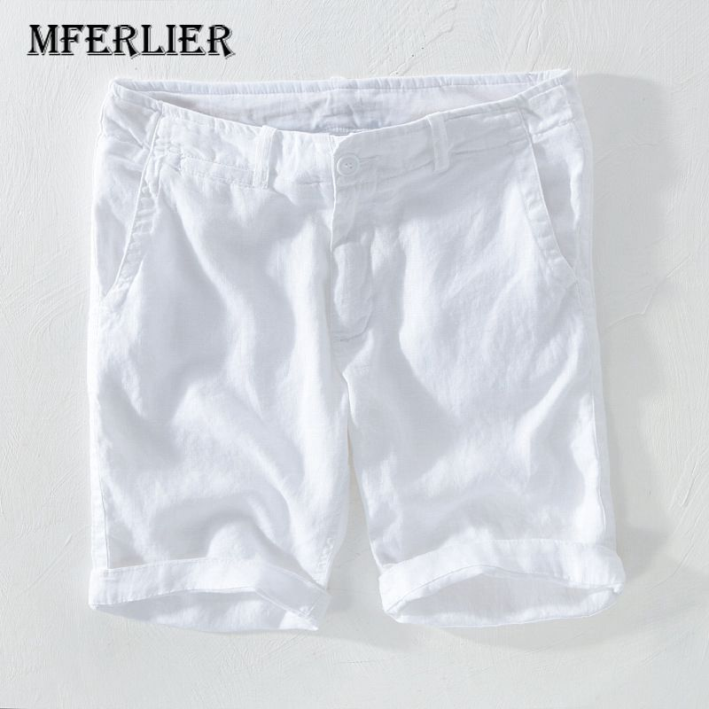 Summer Shorts Men Casual Solid Colors Linen Men Shorts 10 Colors