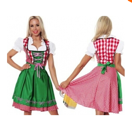 SHIPPING GRATUIT Doamnelor Oktoberfest Beer Maid Wench German - Costume carnaval