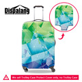 Crystals Pattern Travel Luggage Cover Thickening Waterproof Elastic Suitcase Protective Cover For 18-30 Inch Trolley Case